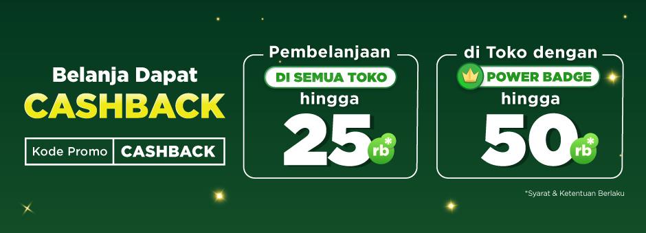 Belanja dapat Double Cashback hingga Rp50.000! - T