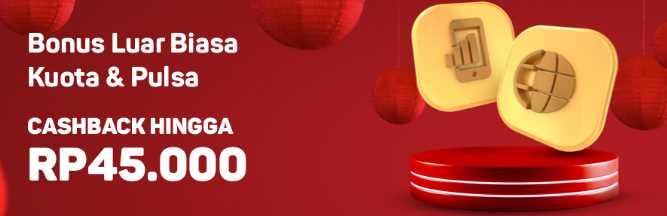 Beli Pulsa atau Paket Data Cashback hingga Rp45.000 - B