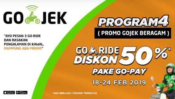 Promo GORIDE Beragam (PROGRAM) Diskon Sampai 50%