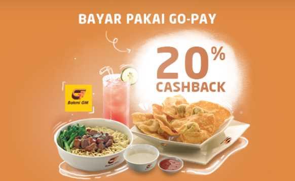 Promo Bakmi GM Februari Gopay Cashback 20%