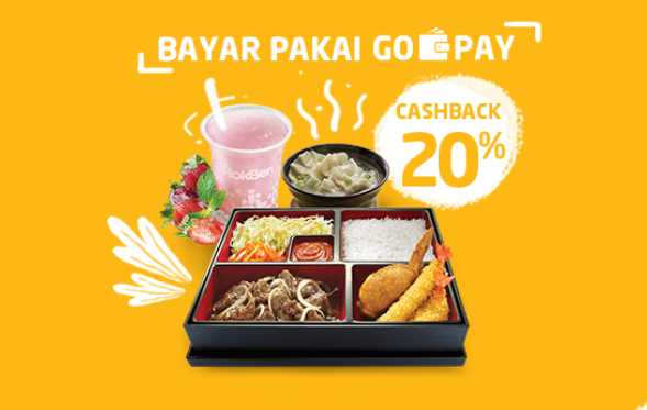Paket Hemat HokBen Cashback 20% dengan Gopay