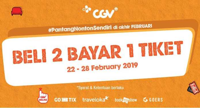 CGV Beli 2 Tiket Cukup Bayar 1 Tiket Aja!