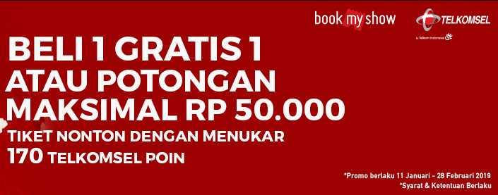 Beli 1 GRATIS 1 Tiket dengan Telkomsel Poin